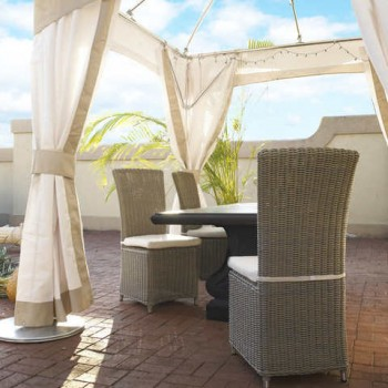Outdoor Nico Chair- With White Outdoor Cushion