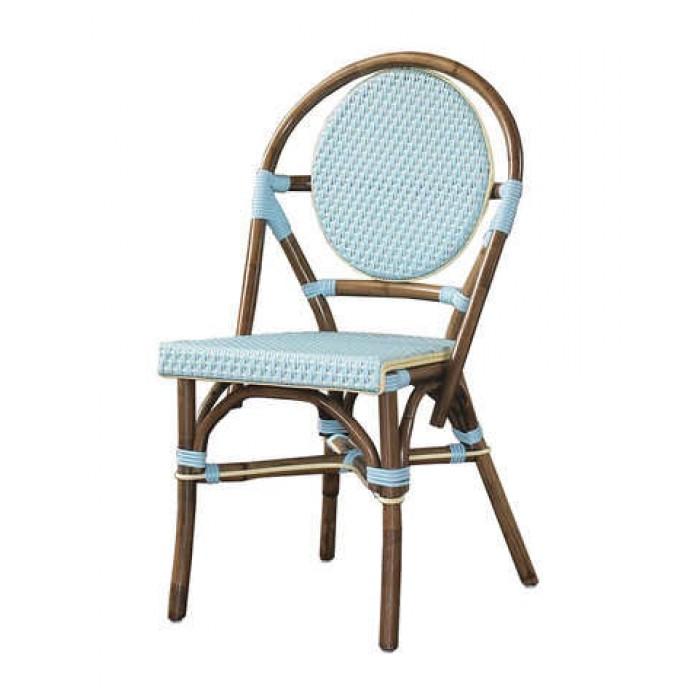 Paris Bistro Chair Blue Set Of 2 Pacifichomefurniture Com