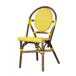 Paris Bistro Chair -Yellow-Set of 2