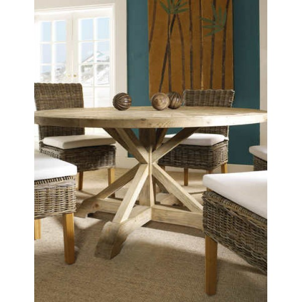 """Salvaged Wood 60"""" Round Dining Table"""