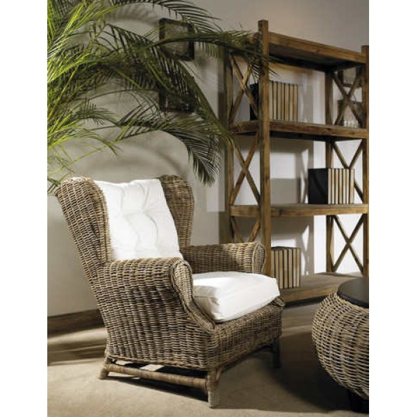 Wing Chair- Kubu- With White Cushion