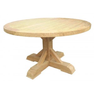 Xena Reclaimed Outdoor Teak Round Dining Table