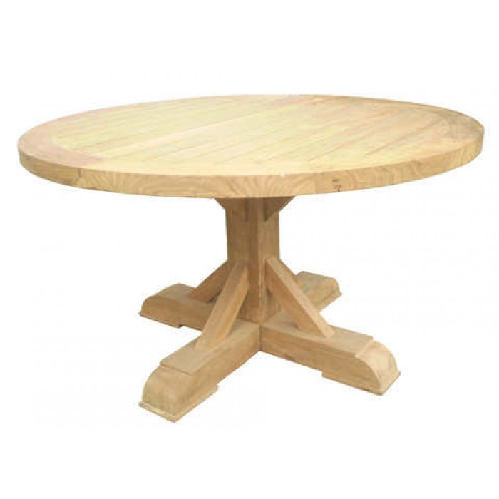 Xena Reclaimed Outdoor Teak Round Dining Table Pacifichomefurniture Com