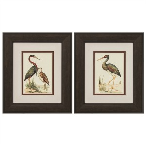 Water Birds Framed Art - Set of 2