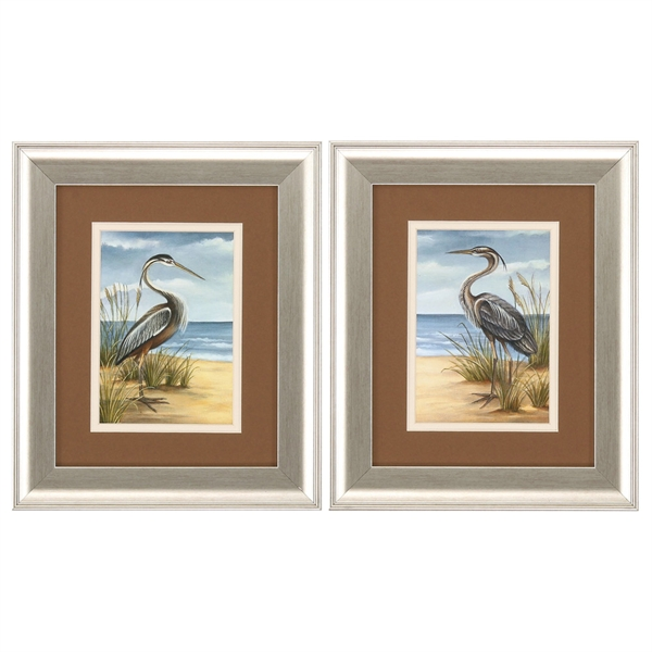 Shore Birds Framed Art - Set of 2