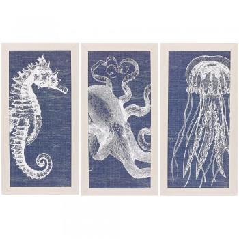 Denim Coastal Prints - Set of 3