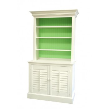 Two Piece Plantation Bookcase