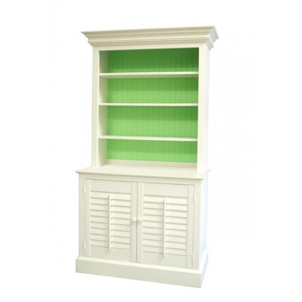 Two Piece Plantation Bookcase