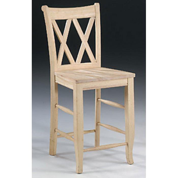 double x back bar stool