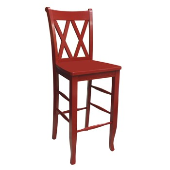 Double X Back Bar Stool @ 30H