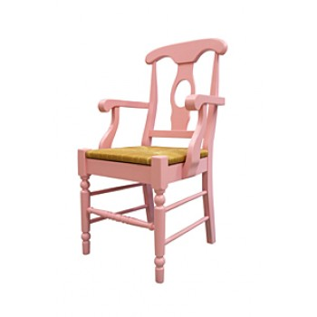 Empire Arm Chair with Rush Seat