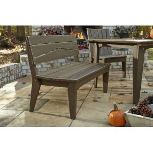 Hourglass Collection-Two Seat Bench w/Back