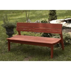 Behren's Collection-4 Seat Bench w/Back