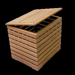 Crete Teak Wood Storage Bench