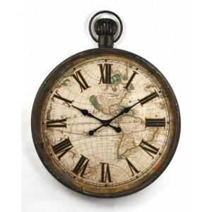 Distressed Iron Clock
