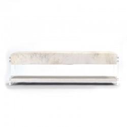 Acrylic Bench w/ shelf