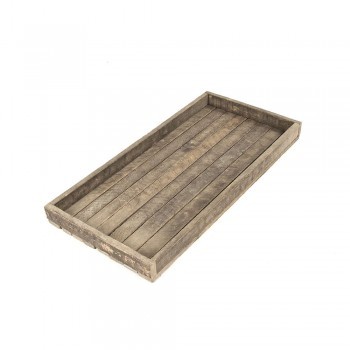 Antique Wooden Rectangular Tray