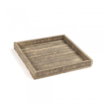 Antique Wooden Square Tray