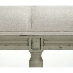 Louis Tufted Bench (Natural Linen Birch)