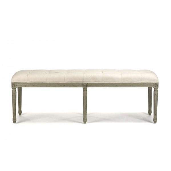 Louis Tufted Bench (Off White Cotton Birch)