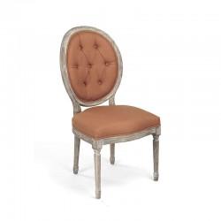 Medallion Tufted Back Side Chair (Orange)