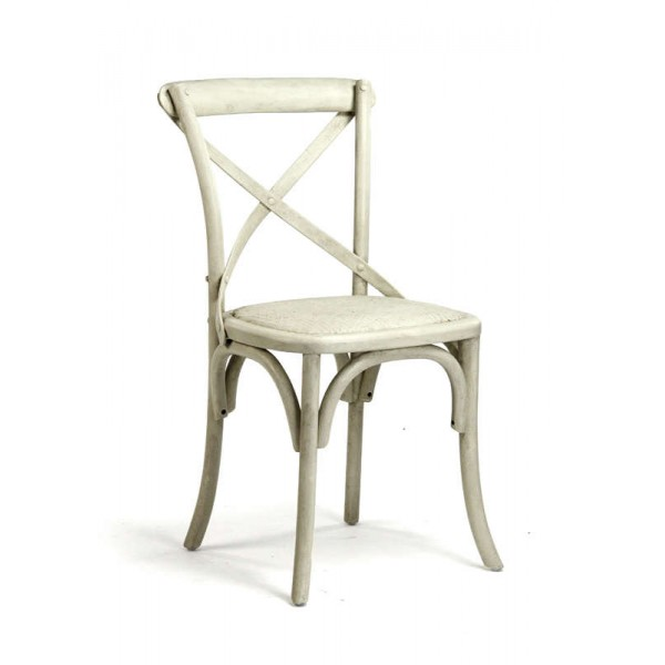 Parisienne Cafe Chair (French Antique Off White)