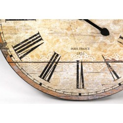 Wooden Clock-Antique White