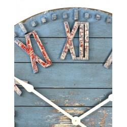 Wooden Clock-Blue